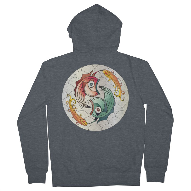 Deco Fish Twins Logo 2019! Men's French Terry Zip-Up Hoody by starstar's Artist Shop