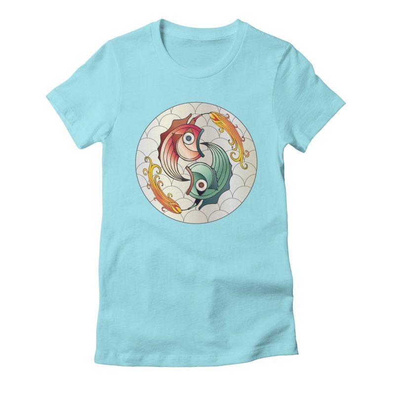 Deco Fish Twins Logo 2019! Women's Fitted T-Shirt by starstar's Artist Shop