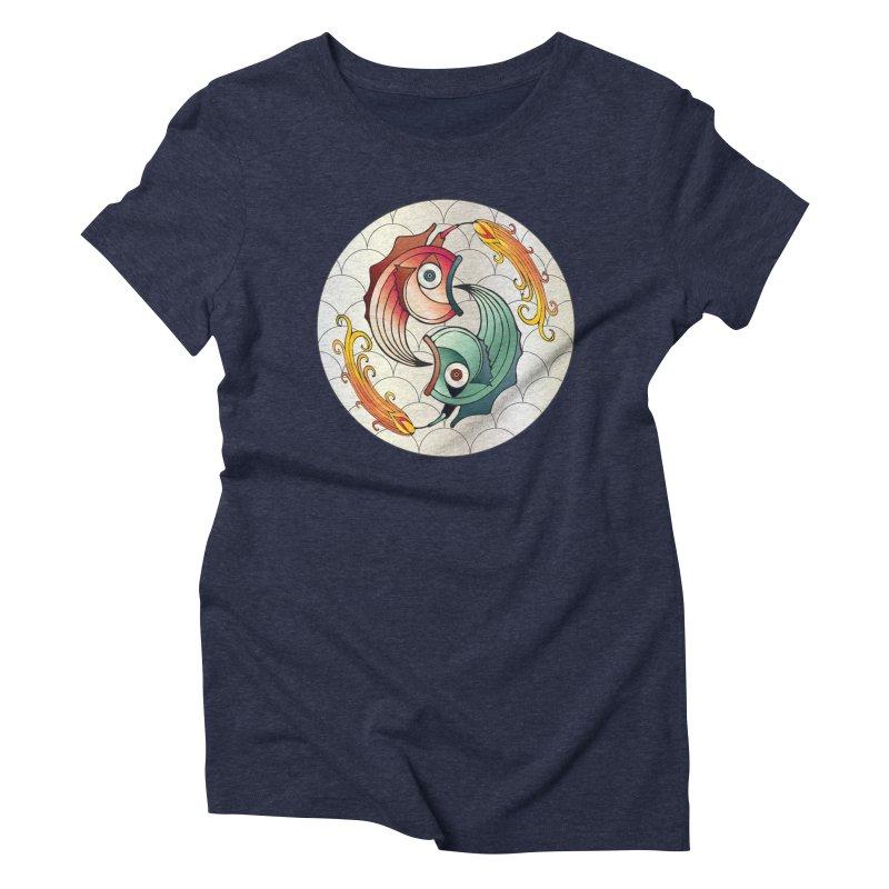 Deco Fish Twins Logo 2019! Women's Triblend T-Shirt by starstar's Artist Shop