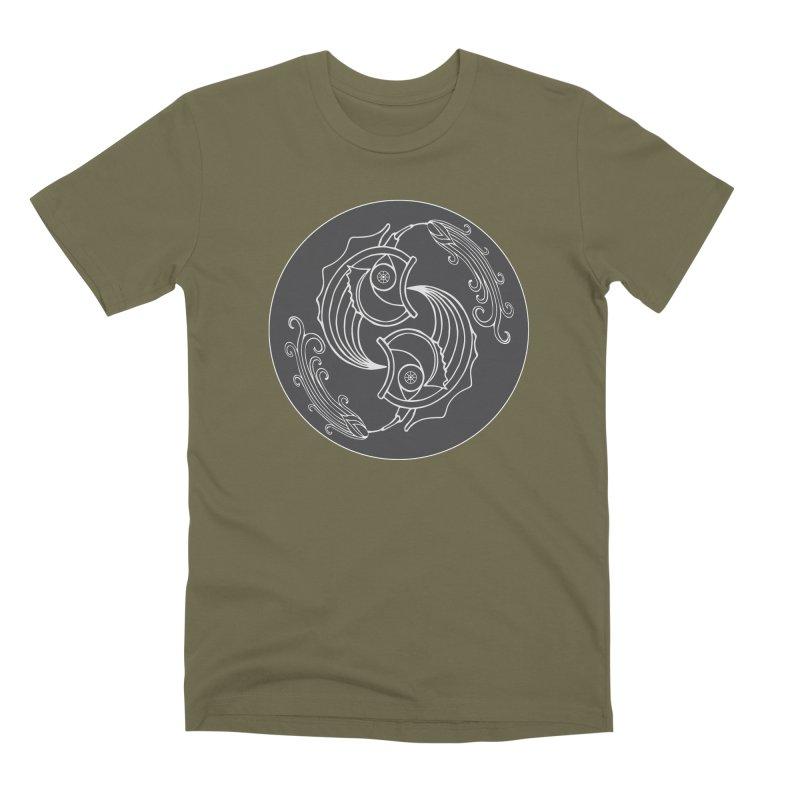 Deco Fish Twins Logo Black and White Men's Premium T-Shirt by starstar's Artist Shop