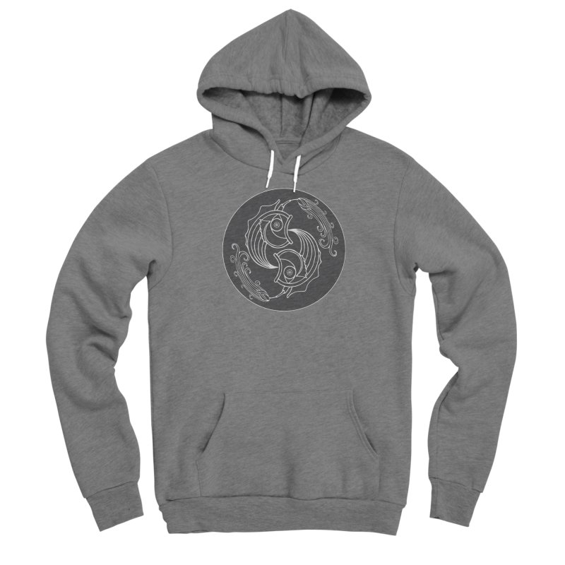 Deco Fish Twins Logo Black and White Men's Pullover Hoody by starstar's Artist Shop