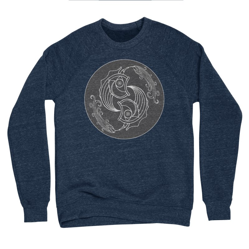 Deco Fish Twins Logo Black and White Women's Sponge Fleece Sweatshirt by starstar's Artist Shop