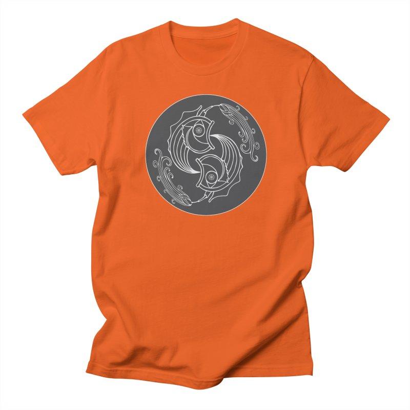 Deco Fish Twins Logo Black and White Men's T-Shirt by starstar's Artist Shop