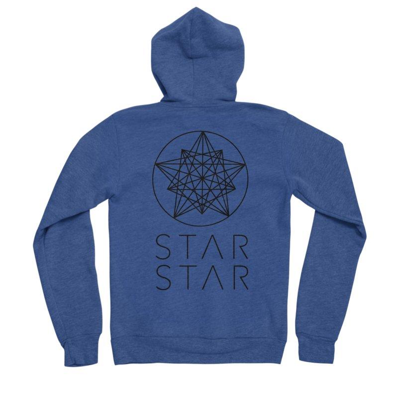 StarStar 2019 Black Logo Men's Zip-Up Hoody by starstar's Artist Shop