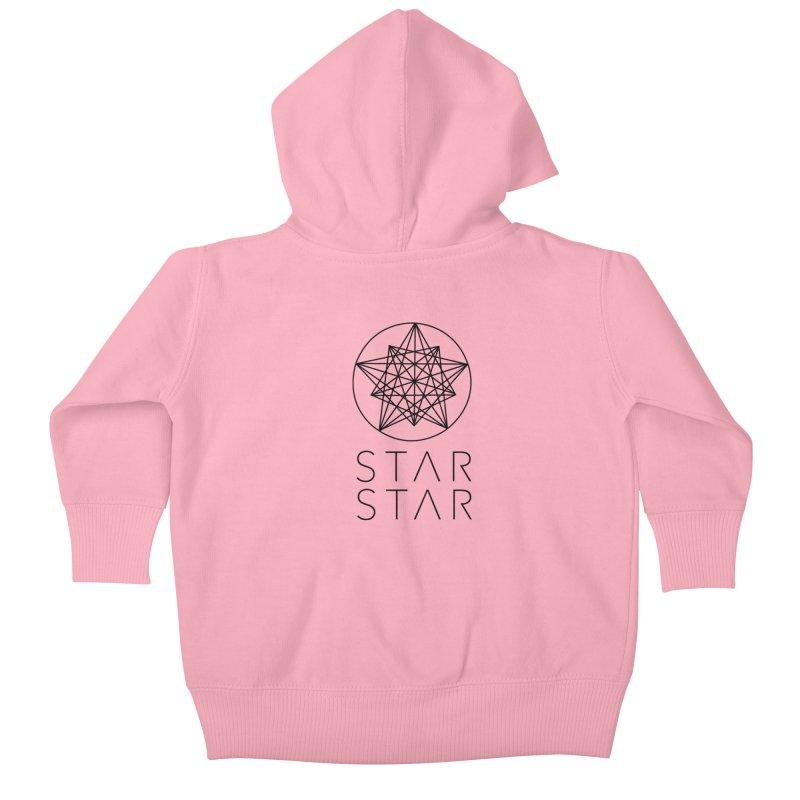 StarStar 2019 Black Logo Kids Baby Zip-Up Hoody by starstar's Artist Shop