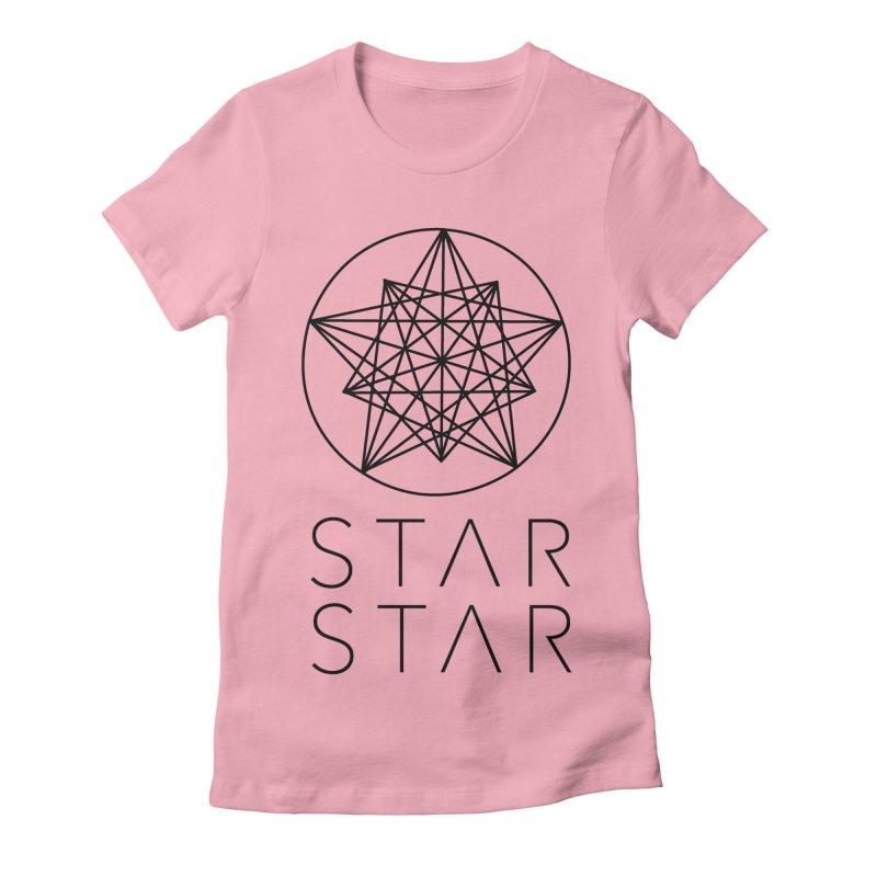 StarStar 2019 Black Logo Women's Fitted T-Shirt by starstar's Artist Shop