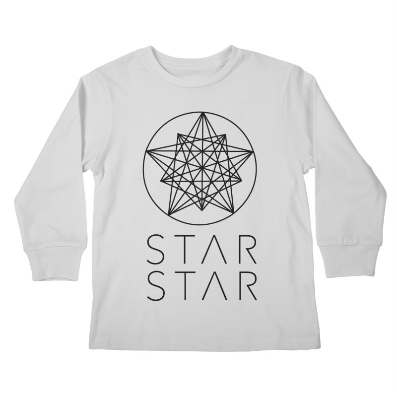 StarStar 2019 Black Logo Kids Longsleeve T-Shirt by starstar's Artist Shop