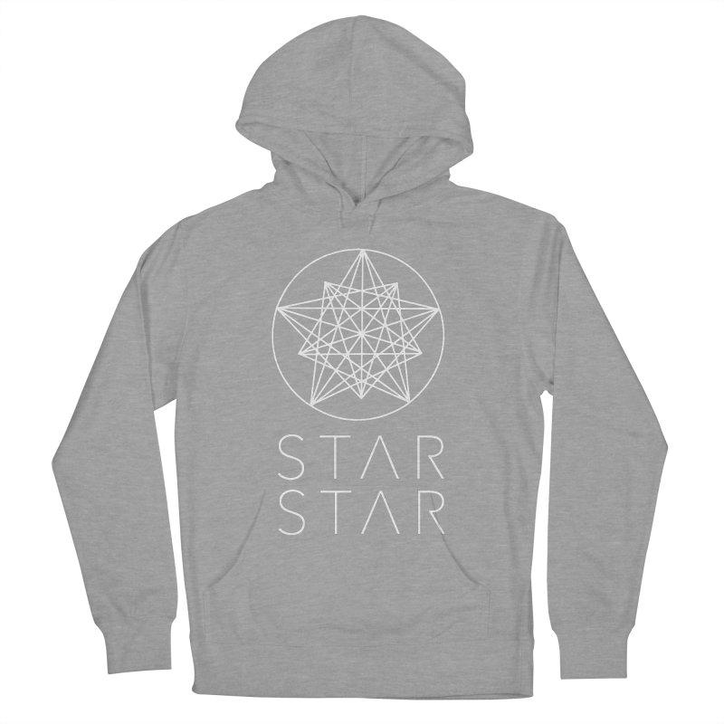 StarStar 2019 White Logo Men's French Terry Pullover Hoody by starstar's Artist Shop