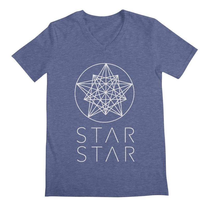 StarStar 2019 White Logo Men's Regular V-Neck by starstar's Artist Shop