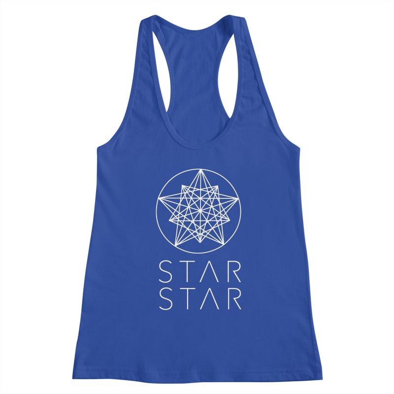 StarStar 2019 White Logo Women's Racerback Tank by starstar's Artist Shop