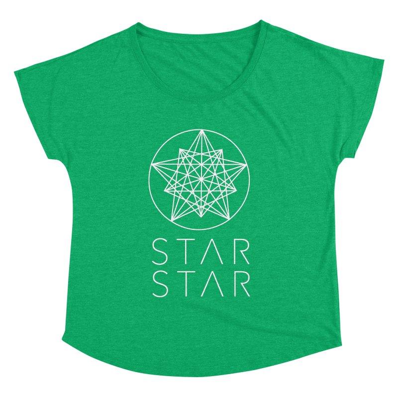 StarStar 2019 White Logo Women's Dolman Scoop Neck by starstar's Artist Shop