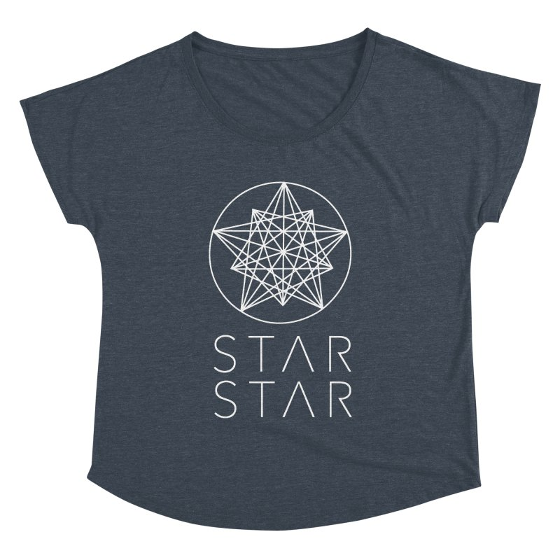 StarStar 2019 White Logo Women's Dolman Scoop Neck by starstar's Artist Shop