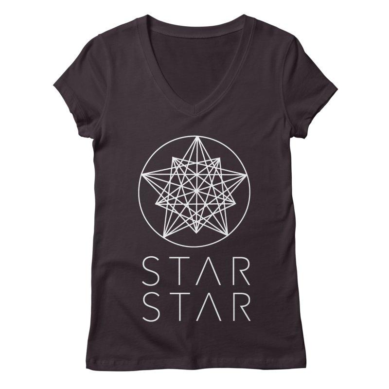 StarStar 2019 White Logo Women's Regular V-Neck by starstar's Artist Shop