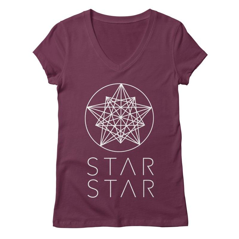 StarStar 2019 White Logo Women's V-Neck by starstar's Artist Shop