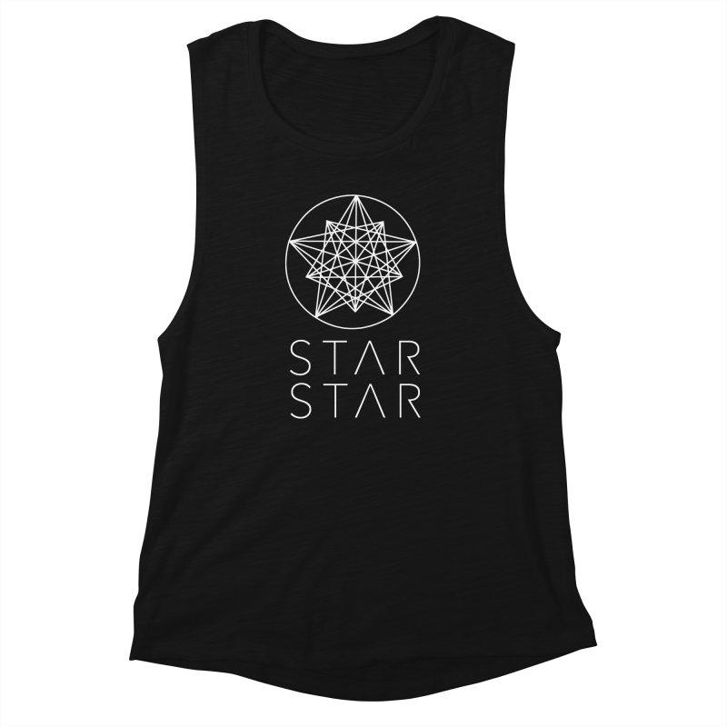 StarStar 2019 White Logo Women's Muscle Tank by starstar's Artist Shop