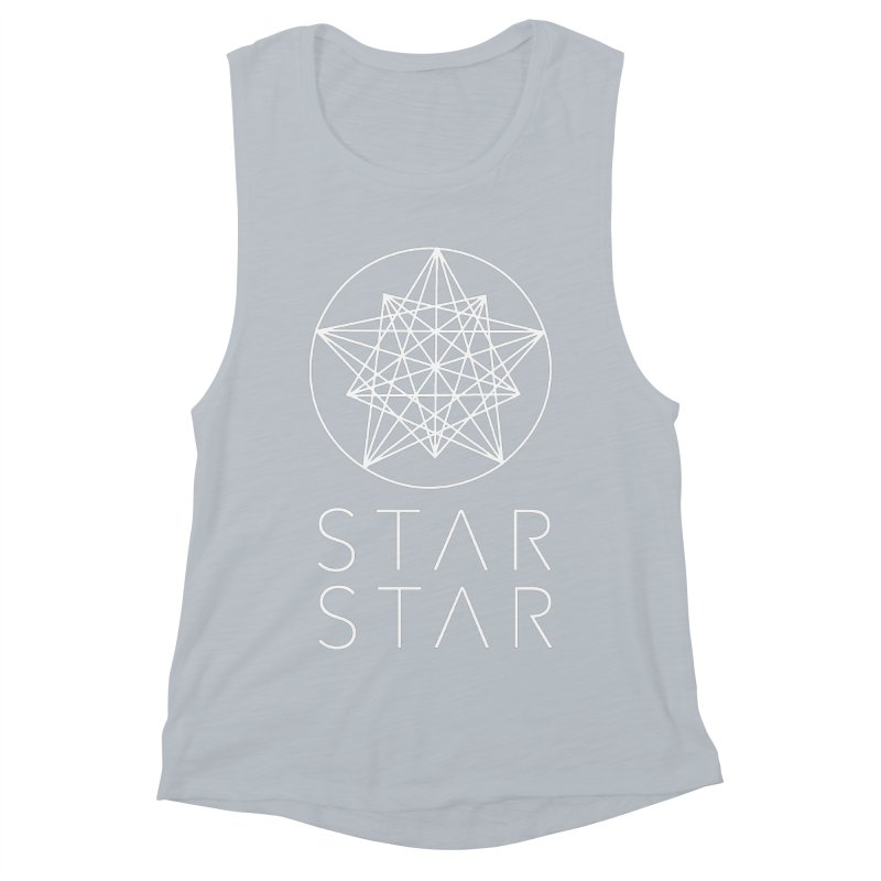 StarStar 2019 White Logo Women's Muscle Tank by starstar's Artist Shop