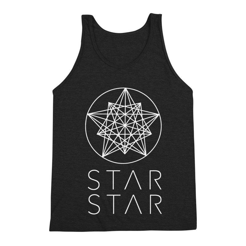 StarStar 2019 White Logo Men's Triblend Tank by starstar's Artist Shop