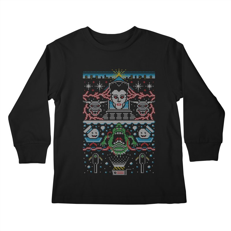 Bustin' Christmas Kids Longsleeve T-Shirt by Stationjack Geek Apparel
