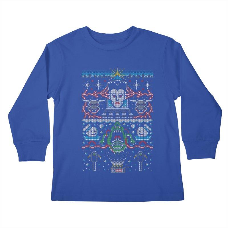 Bustin' Christmas Kids Longsleeve T-Shirt by Stationjack Geek Apparel