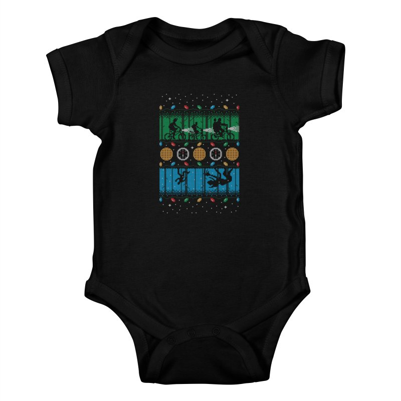 Upside Down Christmas Kids Baby Bodysuit by Stationjack Geek Apparel