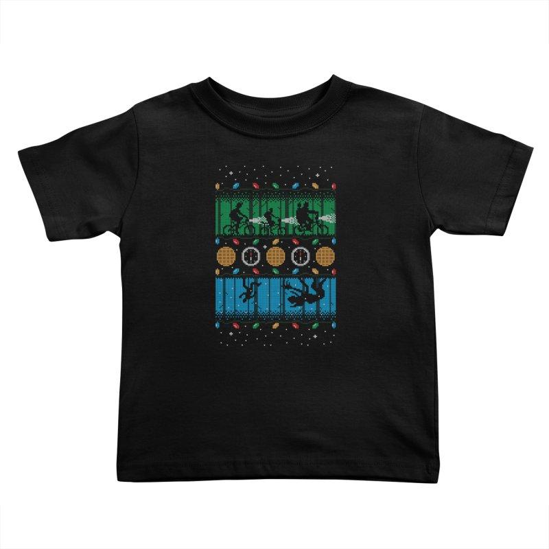 Upside Down Christmas Kids Toddler T-Shirt by Stationjack Geek Apparel