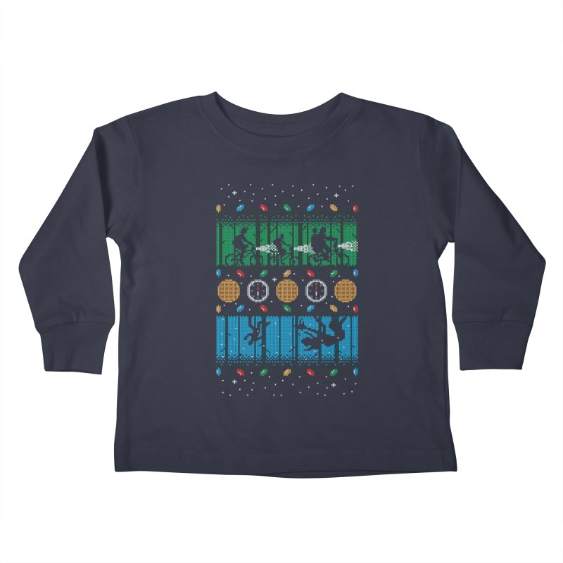 Upside Down Christmas Kids Toddler Longsleeve T-Shirt by Stationjack Geek Apparel