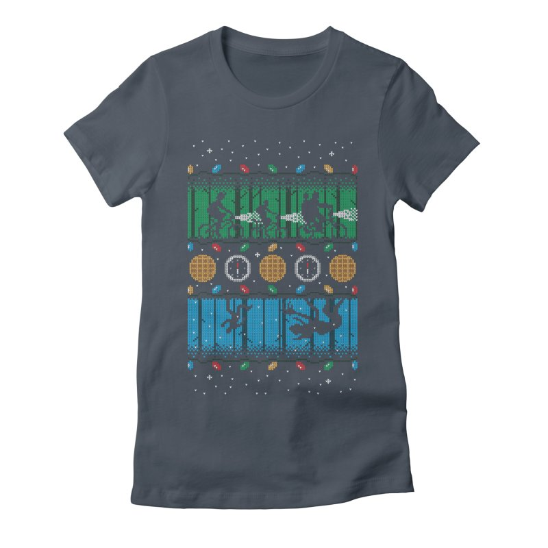 Upside Down Christmas Women's Fitted T-Shirt by Stationjack Geek Apparel