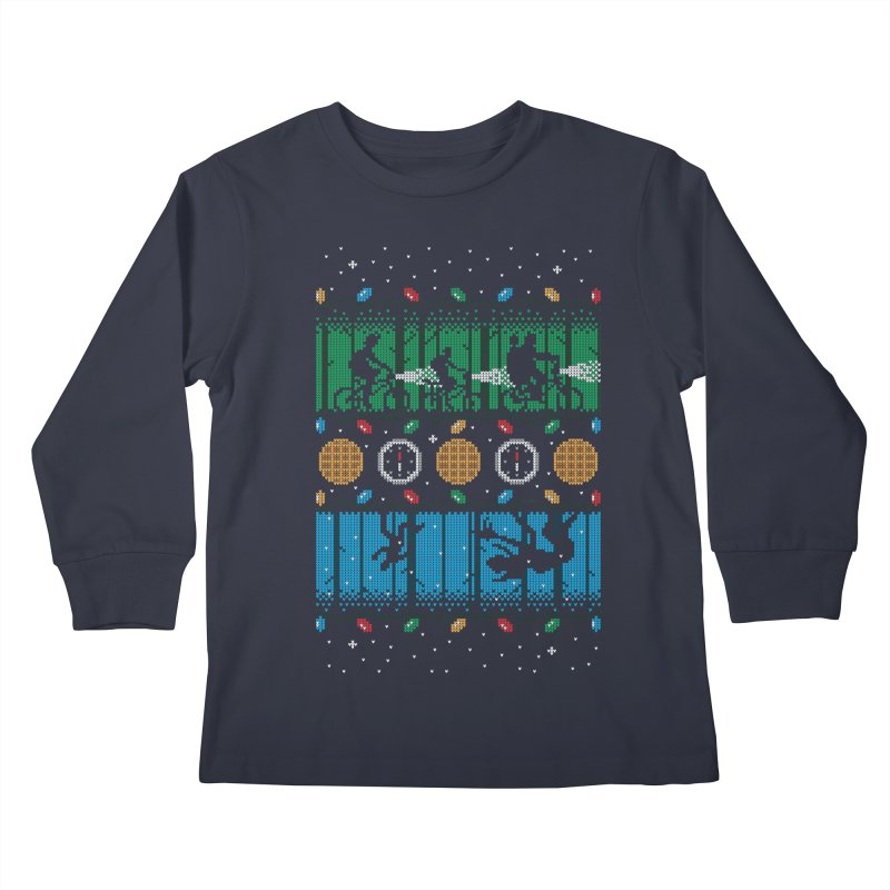 Upside Down Christmas Kids Longsleeve T-Shirt by Stationjack Geek Apparel