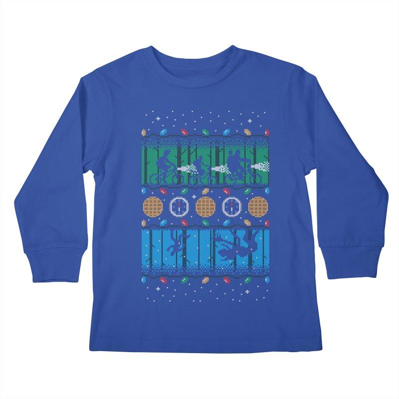 Upside Down Christmas Kids Longsleeve T-Shirt by Stationjack Geek Apparel