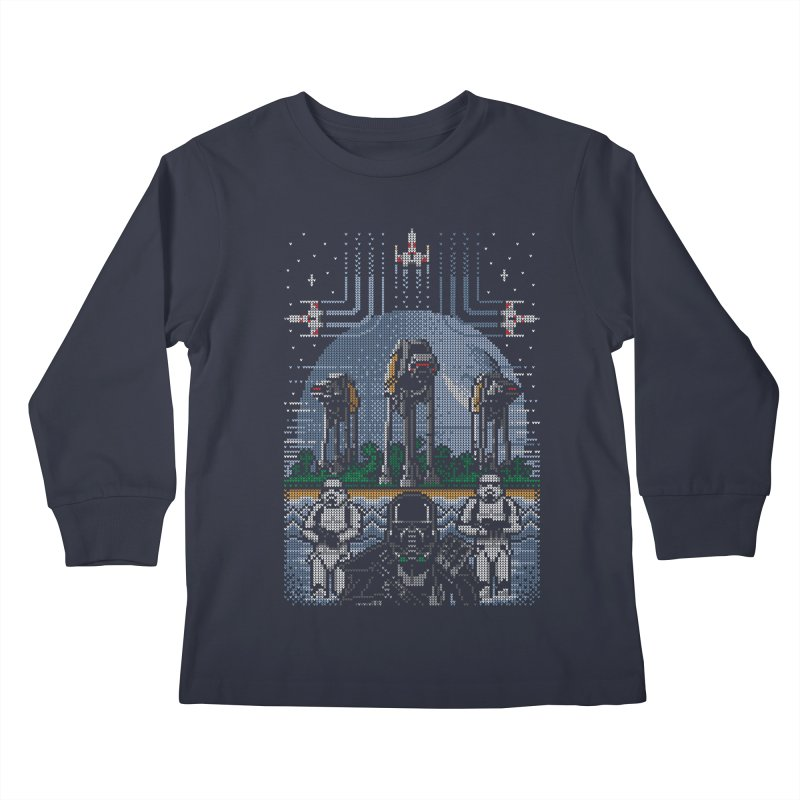 Wrath of the Empire Kids Longsleeve T-Shirt by Stationjack Geek Apparel