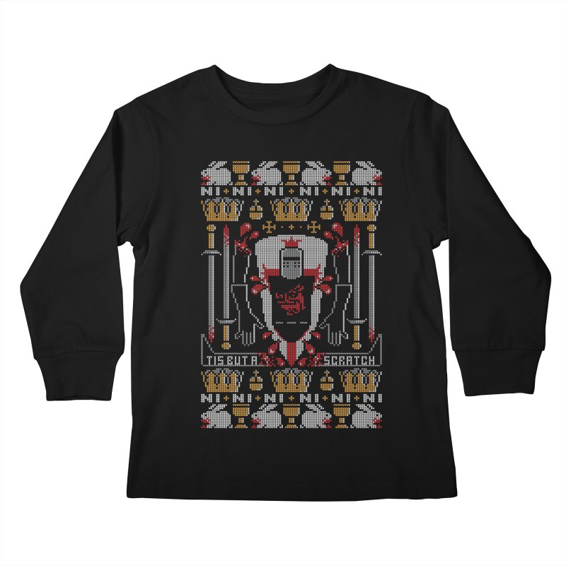 I'll Bite Ya Legs Off  Kids Longsleeve T-Shirt by Stationjack Geek Apparel