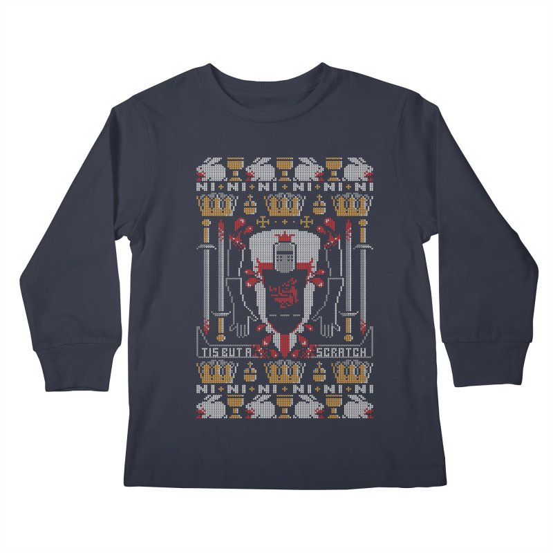 I'll Bite Ya Legs Off  Kids Longsleeve T-Shirt by Stationjack Geek Apparel