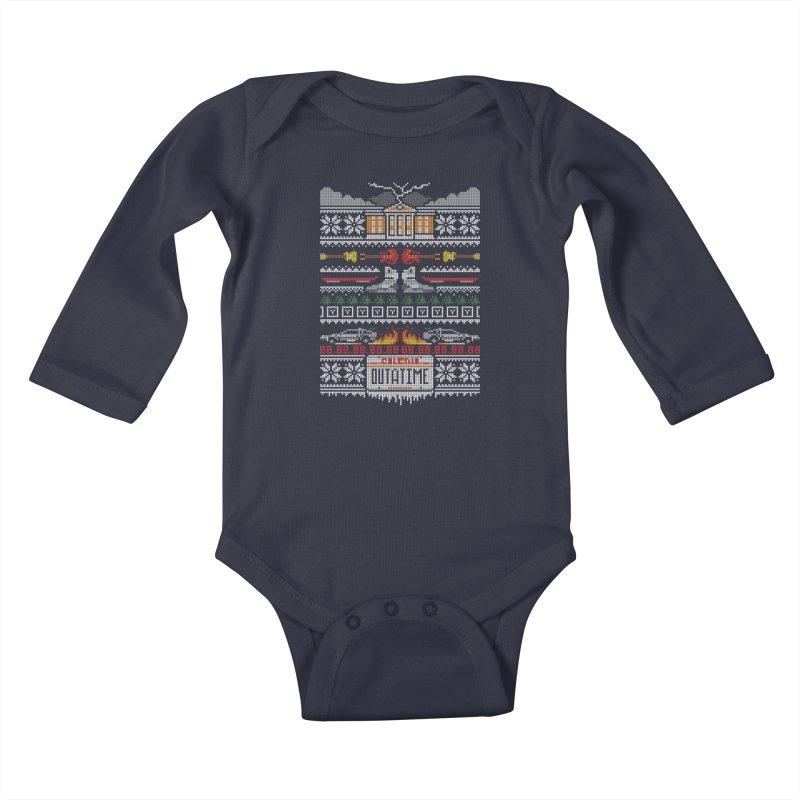 A Stitch In Time Kids Baby Longsleeve Bodysuit by Stationjack Geek Apparel