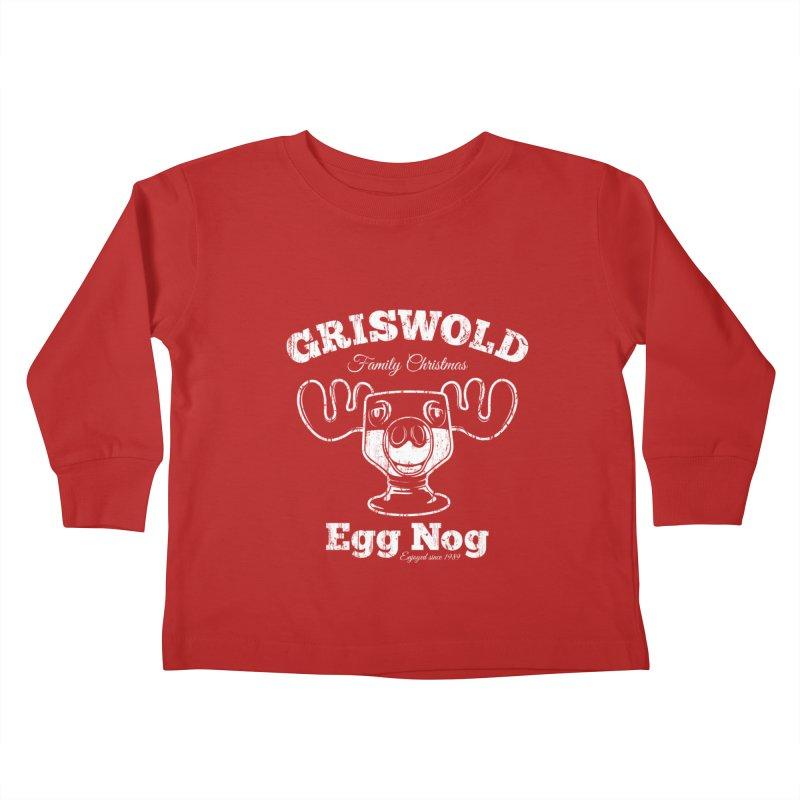 Griswold Family Christmas Egg Nog Kids Toddler Longsleeve T-Shirt by Stationjack Geek Apparel