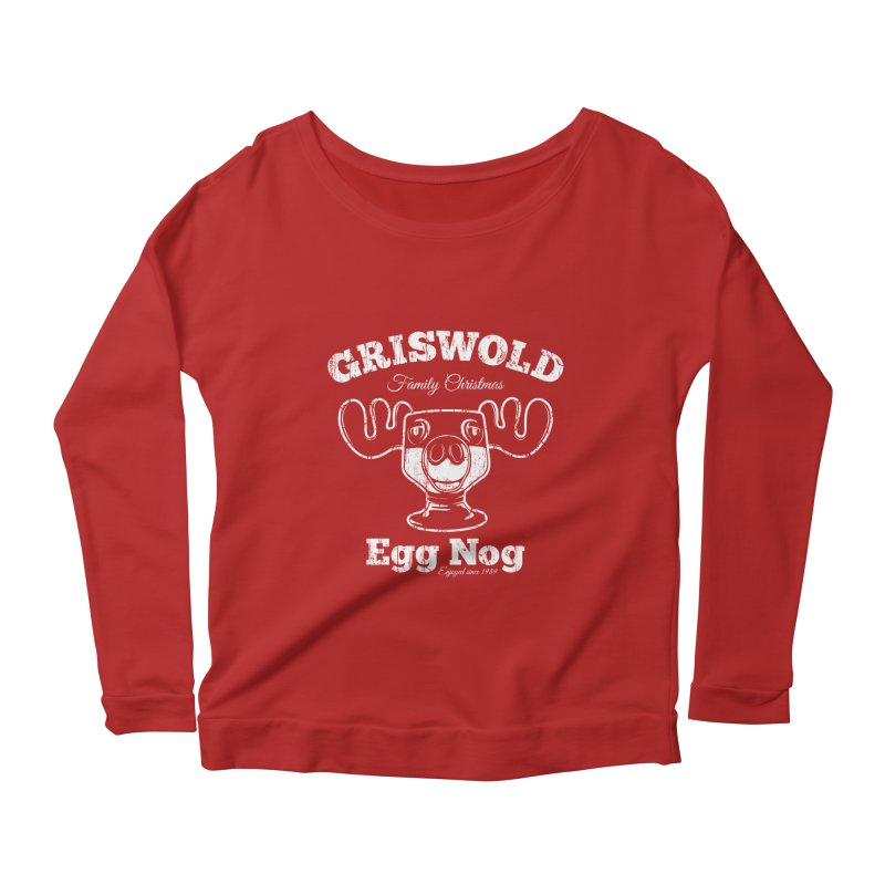 Griswold Family Christmas Egg Nog Women's Longsleeve Scoopneck  by Stationjack Geek Apparel