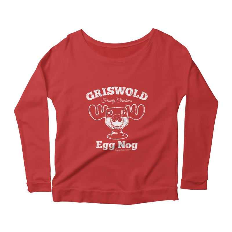 Griswold Family Christmas Egg Nog Women's Longsleeve Scoopneck  by Stationjack Geek Apparel