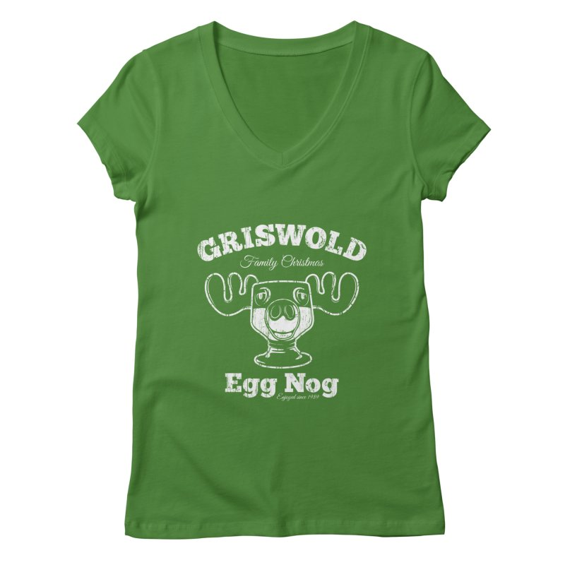 Griswold Family Christmas Egg Nog Women's V-Neck by Stationjack Geek Apparel