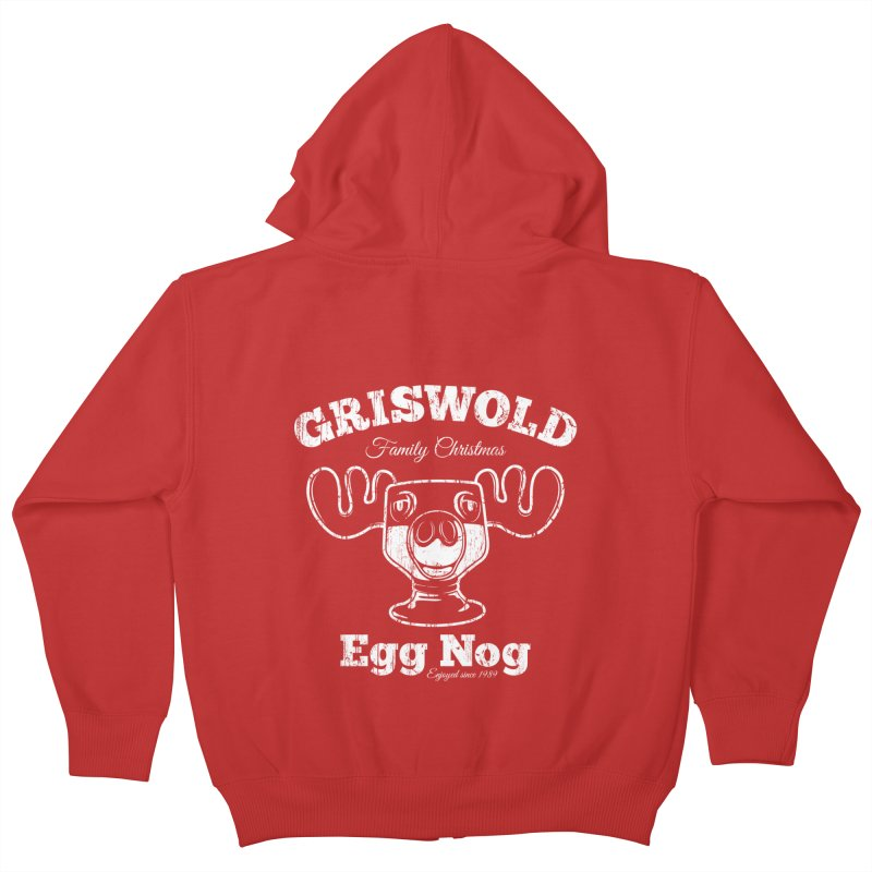 Griswold Family Christmas Egg Nog Kids Zip-Up Hoody by Stationjack Geek Apparel