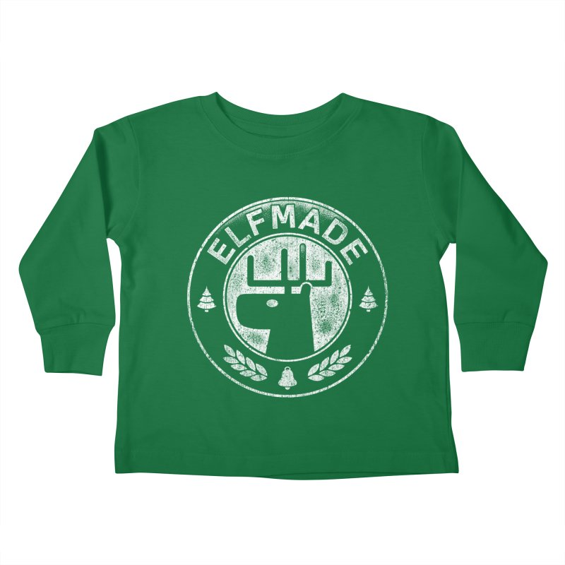 Elf Made Kids Toddler Longsleeve T-Shirt by Stationjack Geek Apparel