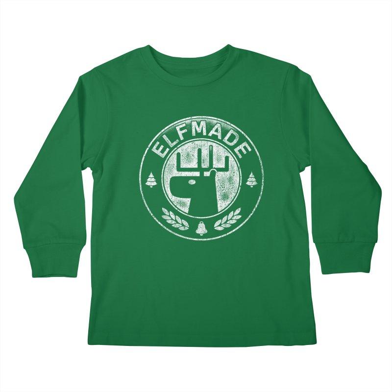 Elf Made Kids Longsleeve T-Shirt by Stationjack Geek Apparel