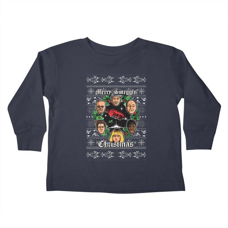 Merry Smeggin' Christmas Kids Toddler Longsleeve T-Shirt by Stationjack Geek Apparel