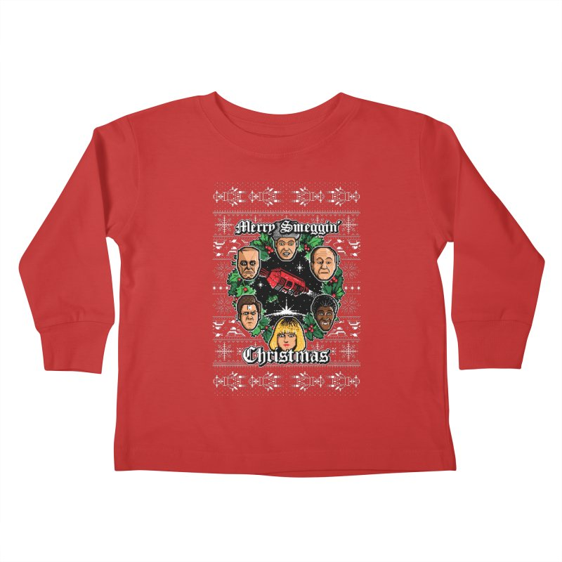 Merry Smeggin' Christmas Kids Toddler Longsleeve T-Shirt by Stationjack Geek Apparel