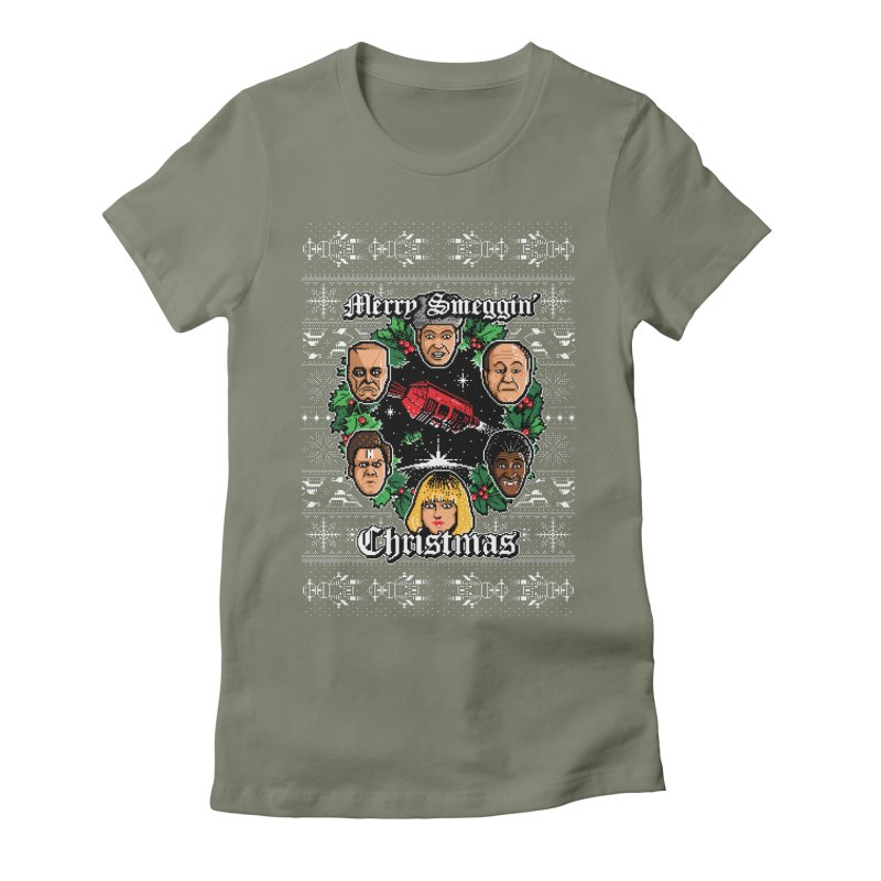 Merry Smeggin' Christmas Women's Fitted T-Shirt by Stationjack Geek Apparel