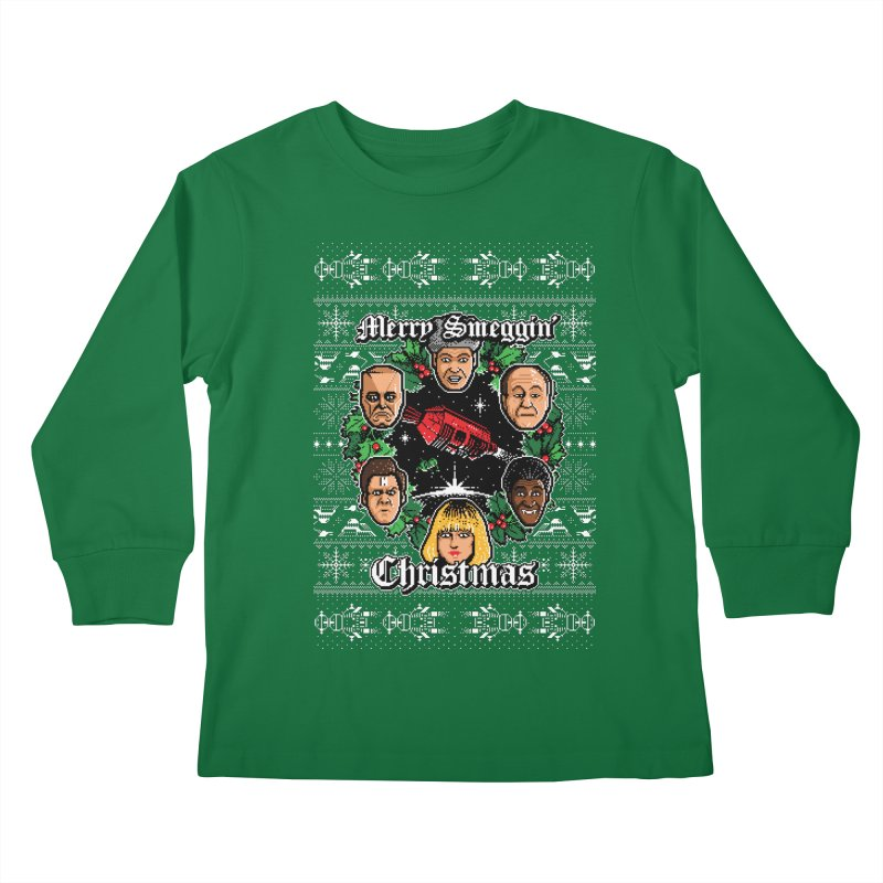 Merry Smeggin' Christmas Kids Longsleeve T-Shirt by Stationjack Geek Apparel