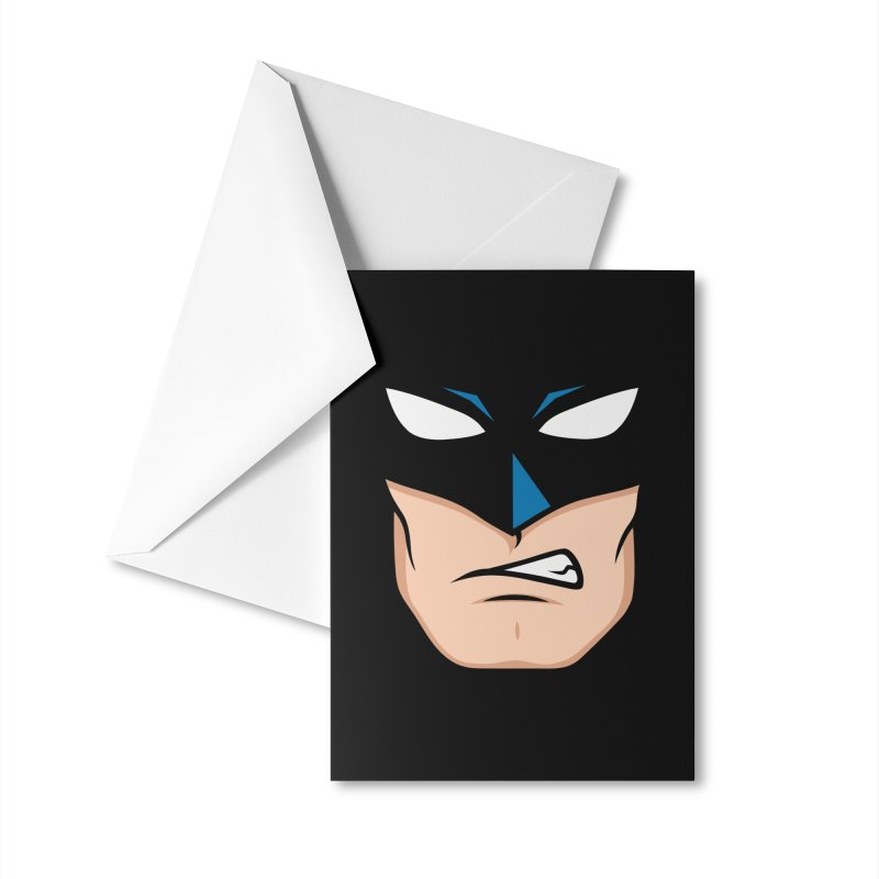 Holy Batmask! Accessories Greeting Card by Stationjack
