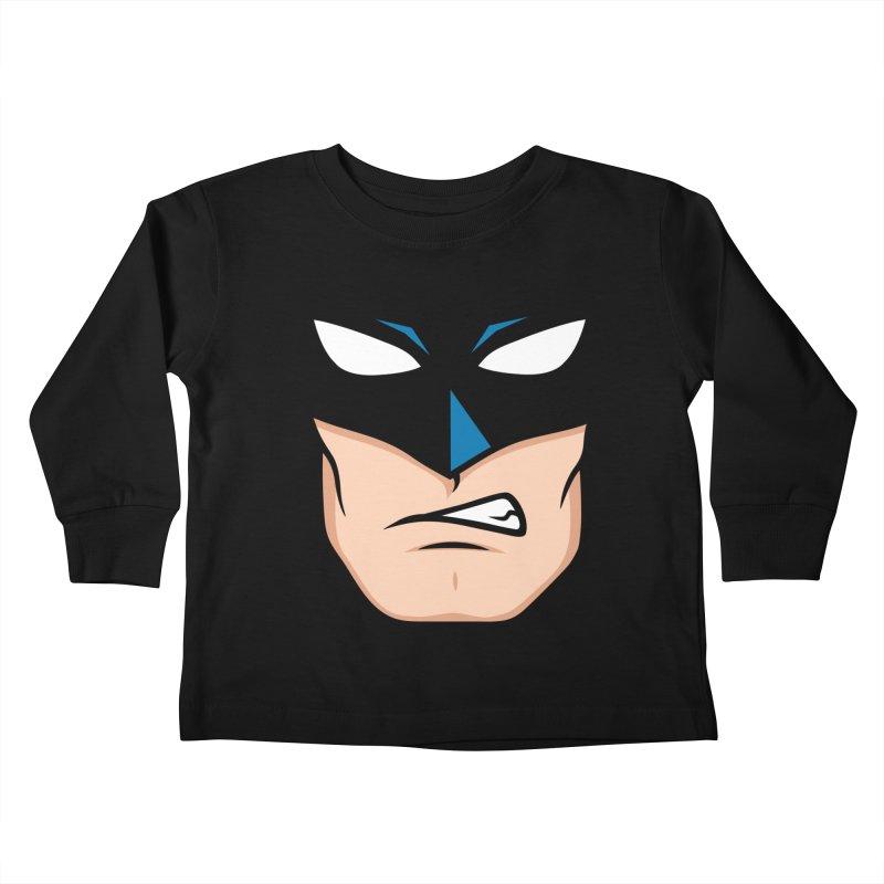 Holy Batmask! Kids Toddler Longsleeve T-Shirt by Stationjack