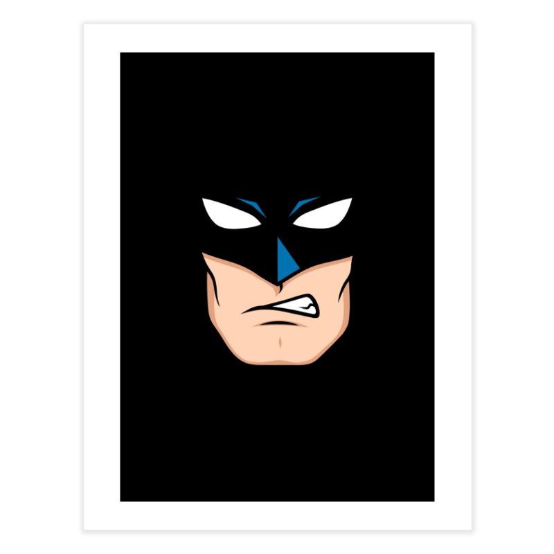 Holy Batmask! Home Fine Art Print by Stationjack