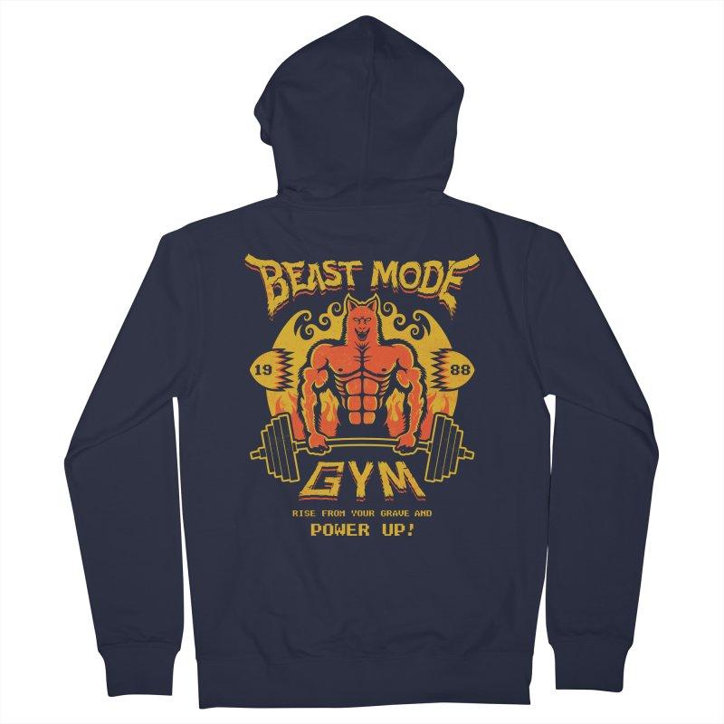 Beast Mode Gym Men's Zip-Up Hoody by Stationjack Geek Apparel