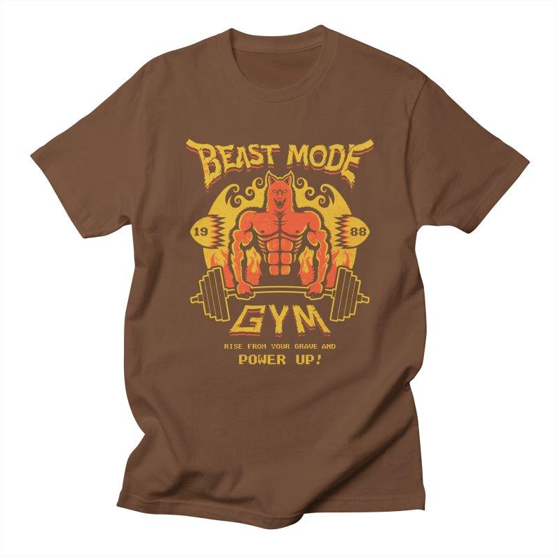 Beast Mode Gym Men's T-shirt by Stationjack Geek Apparel