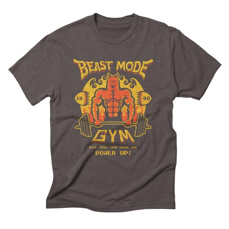 Beast Mode Gym Men's Triblend T-shirt by Stationjack Geek Apparel